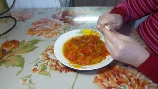 Вкусный салат-закуска, из замороженного перца, вкуснее и полезнее лечо
