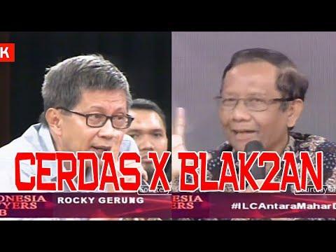 BLAK BLAKAN Prof. Mahfud MD X Rocky Gerung CERDAS!!!