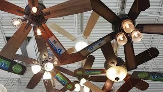 Ceiling Fan Display at Menards