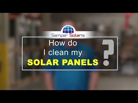 How do I clean my solar panels?