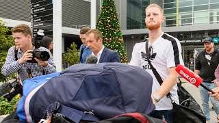 Ben Stokes ignores questions as he arrives in New Zealand