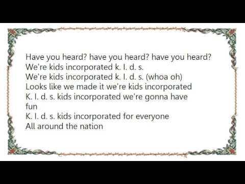 Bloodhound Gang - K.I.D.S. Incorporated Lyrics
