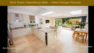 Kitchen dining extension design ideas | Modern cookhouse area design pic collection for
