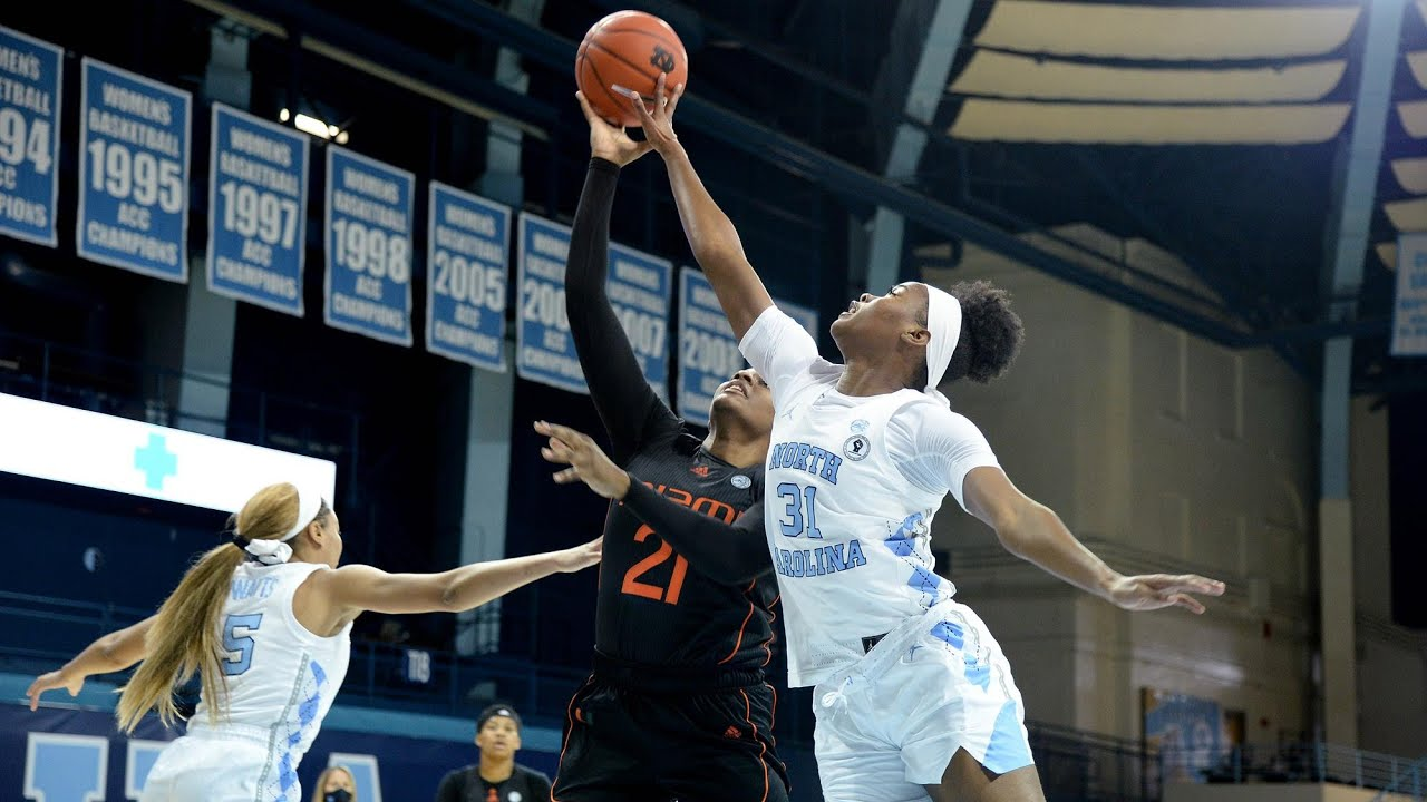 Video: UNC Women's Basketball Comes Up Short Against Miami, 69-59 - Highlights