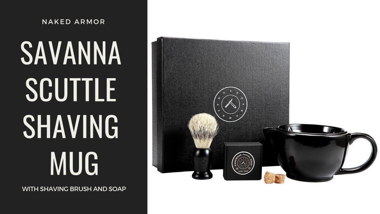 Savanna Scuttle Shaving Mug With Brush And Soap Wet Shave Kit