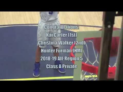Congrats To Kai Carter, Christina Walker And Hunter Furman- All-Region 5 Class A Private