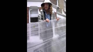 Corrugated Plastic on Clapham Common