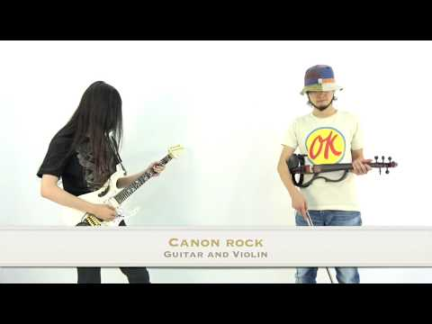 the BEST DUO (  Guitar × Violin ) covered  Canon Rock with GT-1