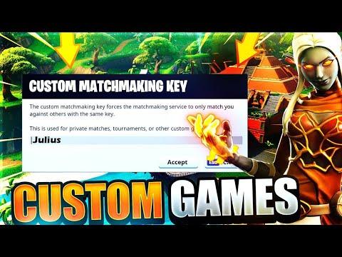 how to get custom matchmaking key on fortnite