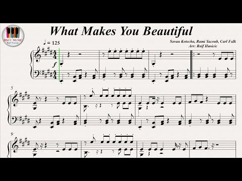 What Makes You Beautiful - One Direction, Piano