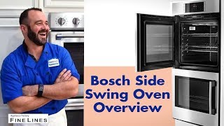 Bosch Side Swing Double Oven Overview #HBLP651LUC