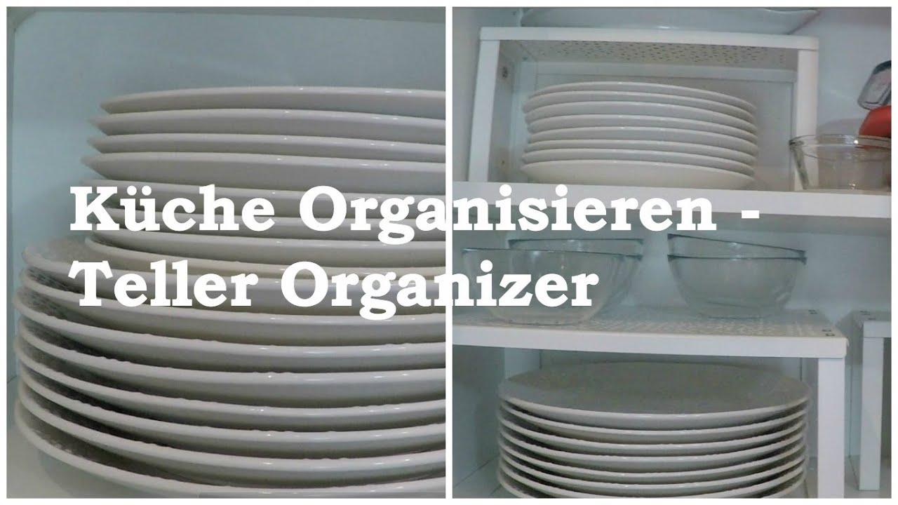 Kche Organisieren  mit einem Tellerregal  YouTube