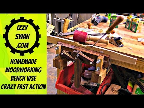 Amazing homemade bench vise | woodworking project | Izzy Swan