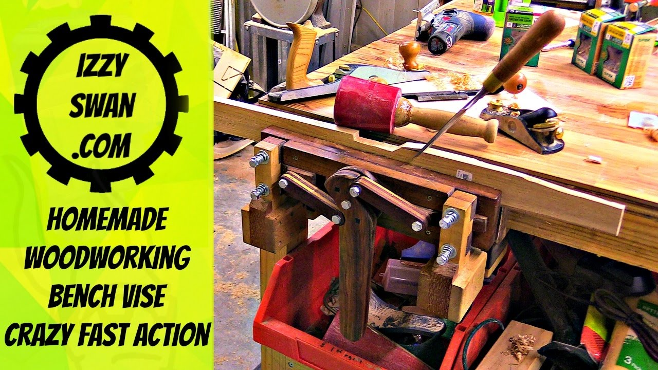 Amazing Homemade Bench Vise Woodworking Project Izzy Swan Youtube