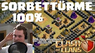 SORBETTÜRME 100% || CLASH OF CLANS || Let's Play COC [Deutsch/German HD]