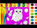 How to Draw Owl Coloring Page for Children Art for Kids