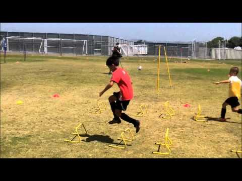 Olympic Training Soccer - Obstacle Course / Hurdles with Yari Allnutt