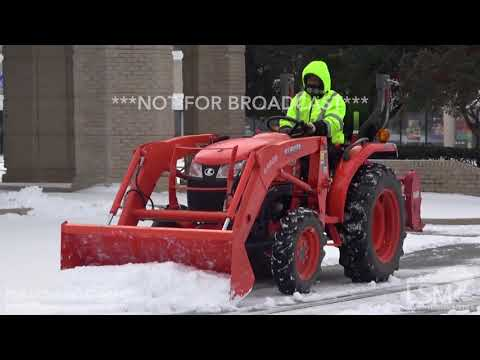 1-16-18 Southaven, MS Homemade Snowplow, Garden Tools, Heavy Equipment are Used to Clean Up Snow