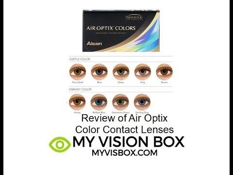 Review of Air Optix Color Contact Lenses