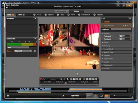 Ansicht mehrer Kameras gleichzeitig in Avid studio und Pinnacle Studio