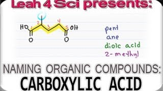 Naming Carboxylic Acids - Organic Chemistry IUPAC Naming by Leah4sci
