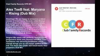 Alex TeeB feat Maryana - Rising (Dub Mix) [Club Family Records]