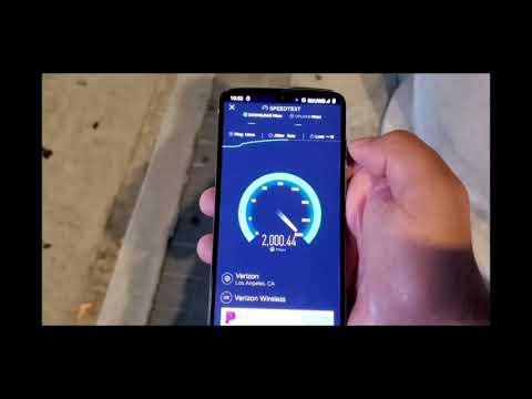 5G Speeds on Motorola Z4 Verizon in LA #Motorola