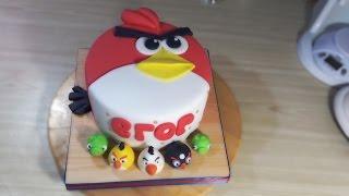 """Торт """"Angry Birds"""" / Cake """"Angry Birds"""" - Я - ТОРТодел!"""