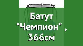 Батут Чемпион (Triumph Nord), 366см обзор 80062 производитель Triumph Nord (Китай)