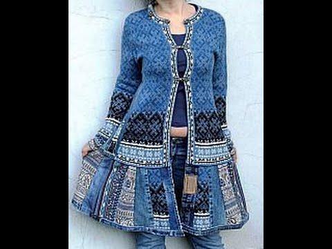 Юбка из старого пиджака