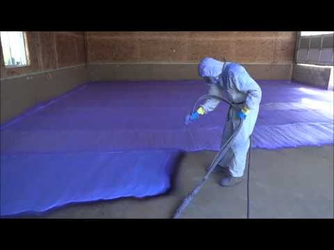 2lb Density Closedcell Spray Foam Application YouTube