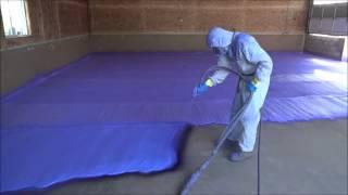 2lb Density, Closed-cell Spray Foam Application