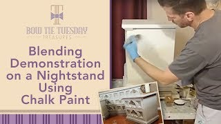 Blending demonstration on a nightstand using Chalk Paint