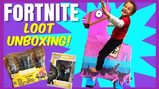FORTNITE Llama Pinata, Loot Chest and Funko Pop Unboxing! | Fortnite Toys | Fortnite for Kids Clean