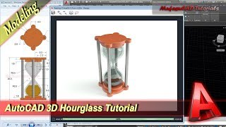 Autocad 3D Design Hourglass Modeling Tutorial Practice Exercise 51