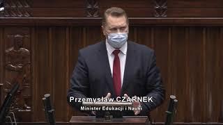Agnieszka Dziemianowicz-Bąk i minister edukacji Przemysław Czarnek