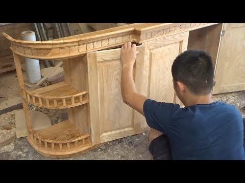 Amazing Techniques Carpenters Woodworking Peak Skills - Build A Modern Kitchen Cabinets Beautiful