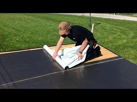 hoe een zelfklevende dakrol verleggen gardentop stick alu nl youtube. Black Bedroom Furniture Sets. Home Design Ideas