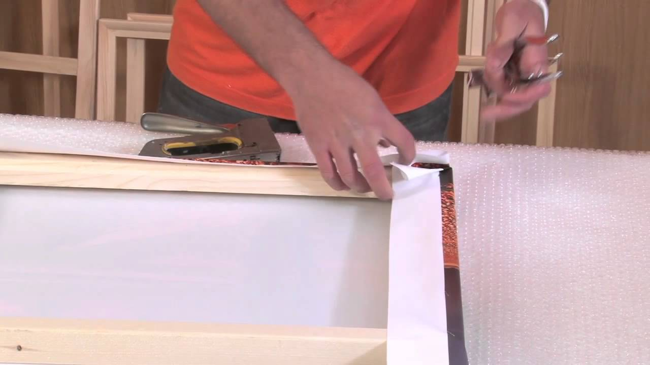 Canvas Stretcher Bars and Canvas Frames - YouTube