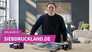 Siebdruckland.de Relaunch 2017