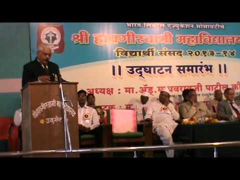 Dr. B. G. Velapurkar presenting the annual report Part I