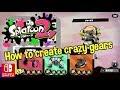 Nintendo Splatoon 2 How to create crazy gears Switch