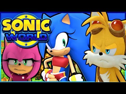 SONIC IS A GIRL!? | Tails And Amy Play Sonic World MODS