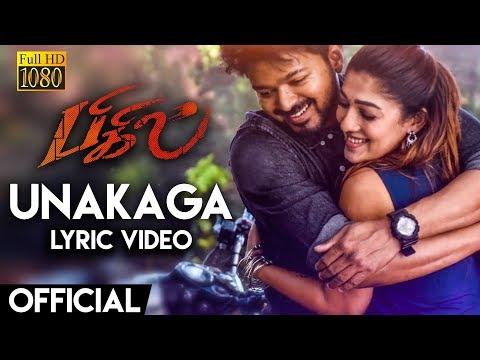 bigil---unakaga-lyric-video-reaction-|-thalapathy-vijay,-nayanthara-|-a.r-rahman-|-atlee-|-ags