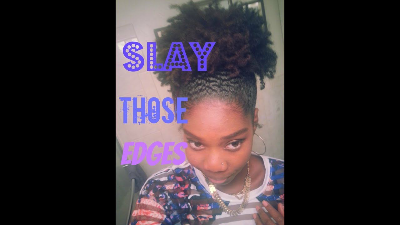 Lay Down And SLAY Those Edges Natural Hair Puff YouTube - Edges hair