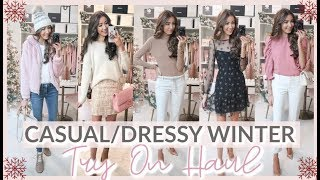 HOLIDAY OUTFIT IDEAS 2019 | WINTER TRY ON HAUL | NORDSTROM, EXPRESS, + MORE!