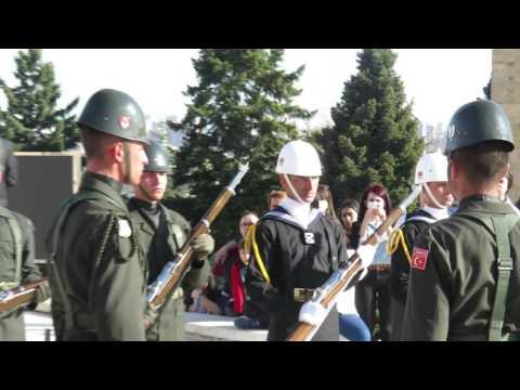Anıtkabir Bayrak Direği Nöbet Değişimi Full HD 1080p