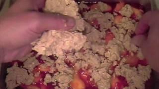 Peach Raspberry Crumb Recipe - Excellent For Breakfast Or Dessert