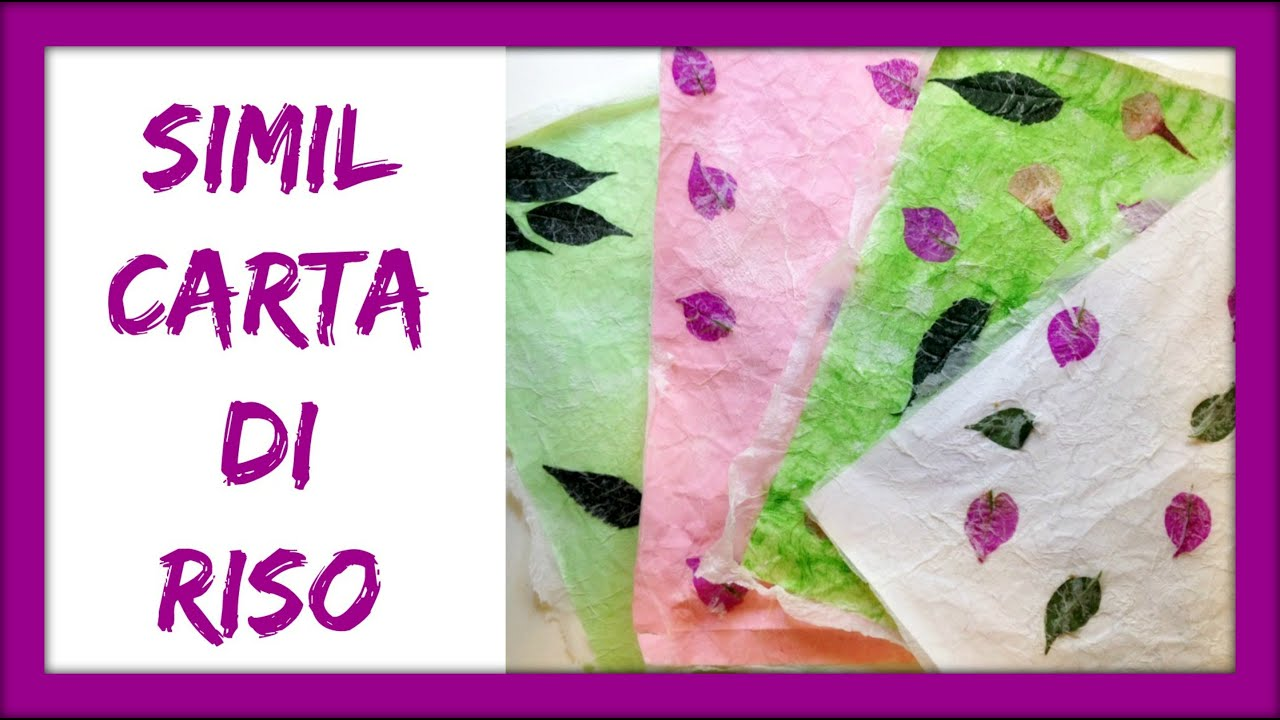 Come fare una simil CARTA DI RISO/ How to make a similar RICE PAPER (Crafting...