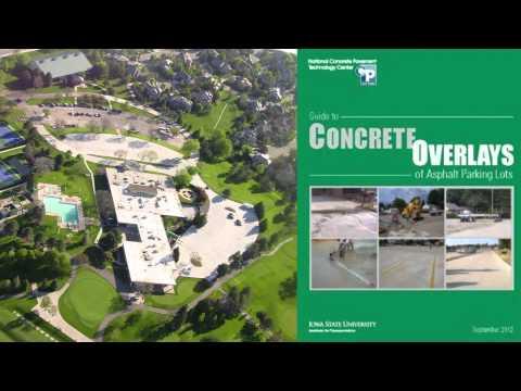 Concrete Overlays Over Asphalt Parking Lots